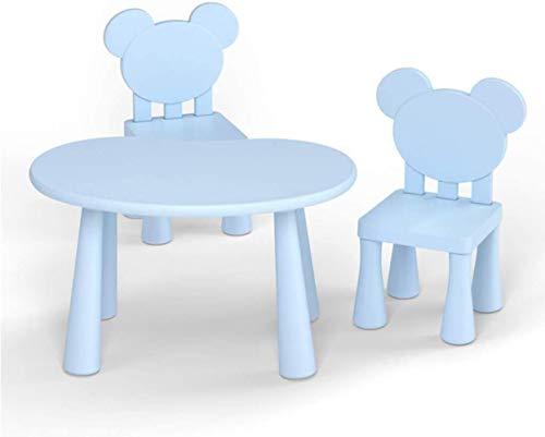 子供のテーブルゲームテーブルテーブルとチェアセットの多機能ホームや安全や家具健康多機能デスクやテーブルの層の保護やクッション性の椅子ChairChildrenホームセキュリティや健康の保護のためのデラックス椅子のためのパディング家具,青い