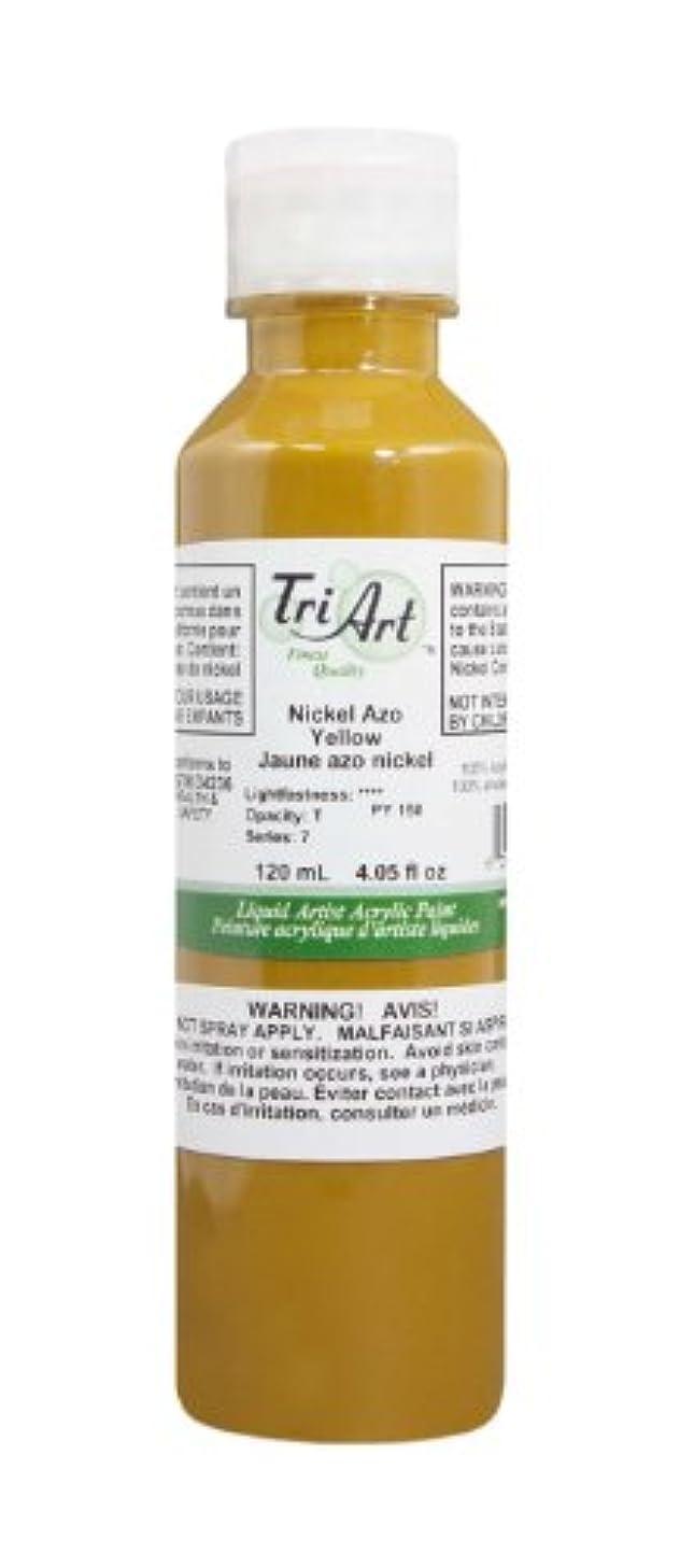 Tri-Art Finest Liquids Artist Acrylics, 120ml, Nickel AZO Yellow