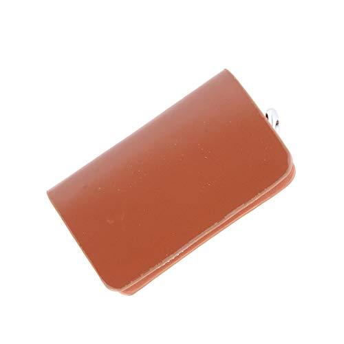 Harte, bequeme, stoßfeste Schutzhülle Universal-Leder-Flash-Pulver Textur Taille hängenden Reißverschluss Geldbörsen Schlüsselhalter Tasche (kein Schlüssel enthalten) (braun) , Leder Schlüsseletuis