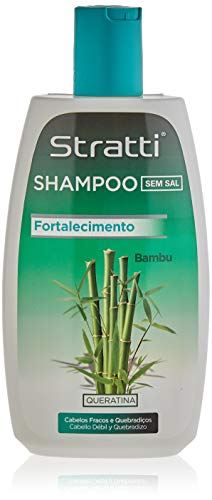 Stratti Bambú - Champú Vitalidad y Resistencia con Keratina, sin Sal - 400 ml