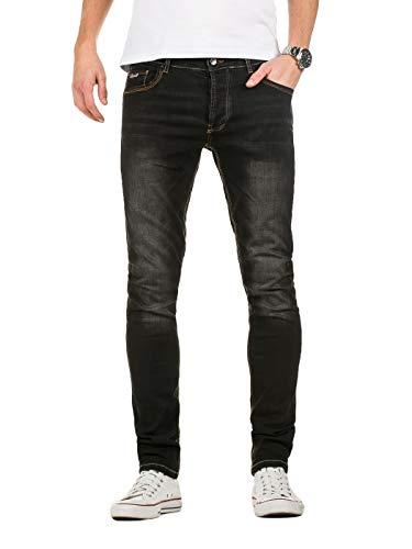 Yazubi Herren Jeans Jhin - Slim Fit Jeans, Schwarz (Black Stone 301), W33/L32