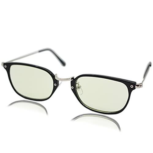 (エイトトウキョウ)eight tokyo 老眼鏡 ブルーライトカット おしゃれ メンズ レディース 兼用 かわいい 2.0 UVカット シニアグラス リーディンググラス[ 鯖江メーカー企画 ]ブラック/ライトグリーン RD8101-BK+2.0