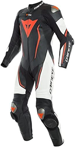 Dainese Misano 2 D-Air® Airbag 1-Teiler Perforierte Motorrad Lederkombi Schwarz/Weiß/Rot 54