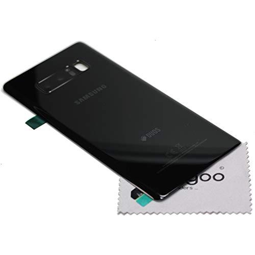 Akkudeckel für Samsung Original für Samsung Galaxy Note 8 N950F schwarz Back Cover Rückwand Deckel mit mungoo Displayputztuch