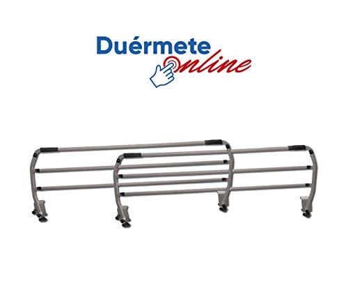 Duérmete Online Juego de Barandillas Metálicas Geriátricas Abatibles Reforzadas para Cama Articulada con 3 Barras, Prácticas y seguras, Universal