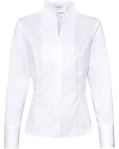 van Laack Damen Alice-NOS Bluse, Weiß (Weiß 000), 46