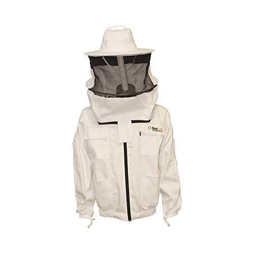 BeeFun schützende Imkerjacke mit Rundhut aus eng gewebter Baumwolle (L)