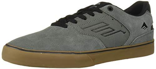 Emerica Men's The Reynolds Low Vulc Skate Shoe, Grey/Black/Gum, 6.5 Medium US