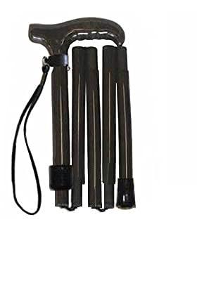 超軽量オールカーボンコンパクト折りたたみ伸縮杖ロング/ブラックPC23