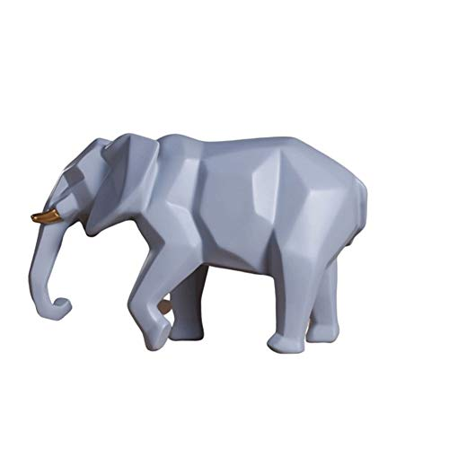 Moda Elefante Piggy Banco Nórdico de Escritorio Decoración Creativa Cambio de Personalidad Caja de la Moneda del Dinero (Color : Gray)