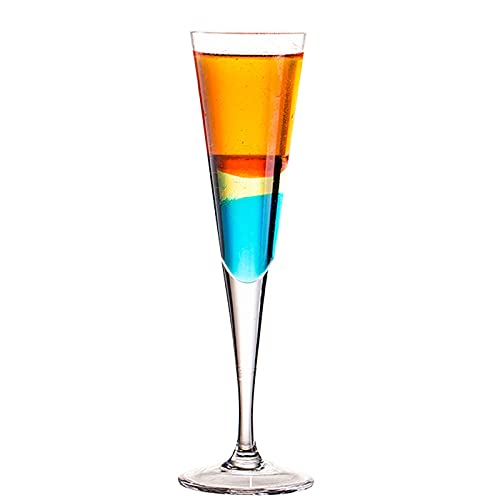 Copa de Vidrio de Vidrio de Cocktail Copa de Vino en Forma de Vino V,80ML