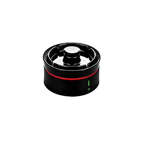 BABYCOW Cenicero de purificación de Aire con botón de 360 °, Carga USB, portátil, antihumo de Segunda Mano, cenicero Volante, Adecuado para Filtro de Fumar en casa, Almacenamiento de Escritorio, d