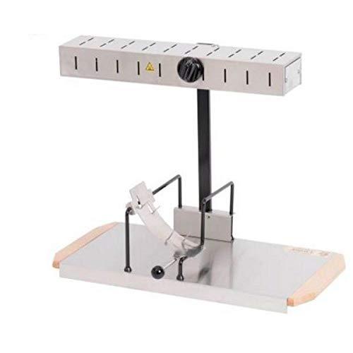 Louis Telier – Raclette-Gerät Alpage® Signature Edelstahl – Größe geeignet für alle Portionen von Schleifstein – 6 bis 8 Personen – Heizrampe höhenverstellbar – Sicherheitsschalter – 230 V
