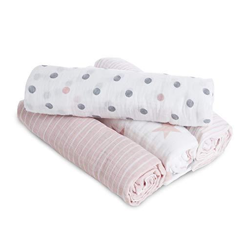 aden + anais maxi-langes, mousseline 100 % coton, doll - 4 pack