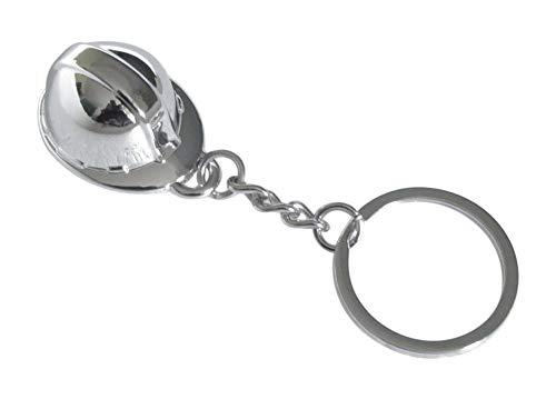 bijouxmodefashion Porte-clés Imitation Casque chromé de sécurité Protection Civile, Pompier.