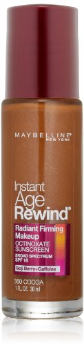 Maybelline New York Instant Age Rewind Radiant Firming Makeup, Cocoa 360, 1 Fluid Ounce