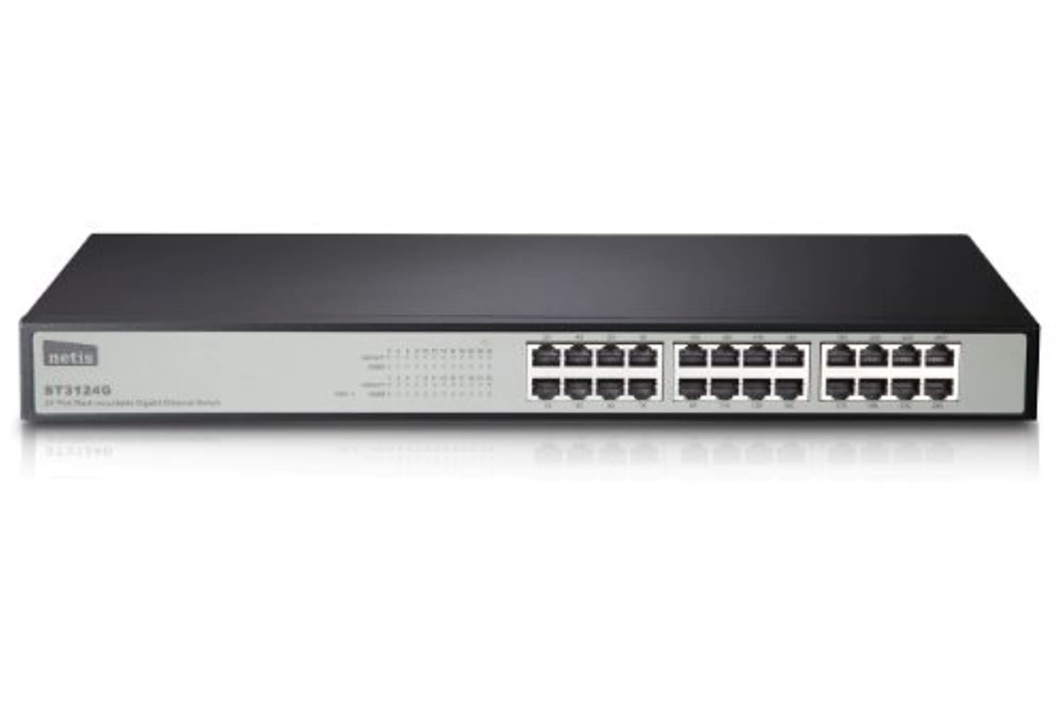 Netis ST3124G 24-Port 10/100/1000M Gigabit 19-inch Rackmountable Switch, Auto-negotiation, P&P, Mounting Kits Included [並行輸入品]