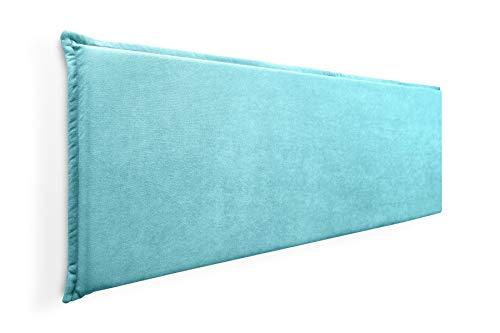 Cabecero de Espuma Jazmin Foam Liso con Ribete, Desenfundable, para Camas de 135 (149 x 52 cm) Tela Turquesa