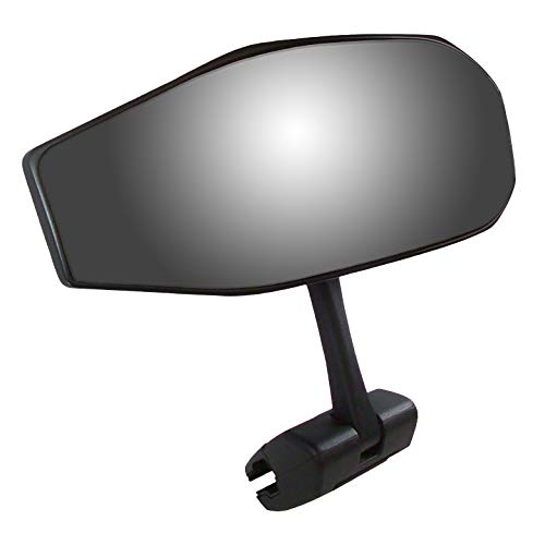 CIPA 01609 Black Vision 180 Degree Marine Mirror with Deluxe Cast Aluminum Cup Mounting Bracket