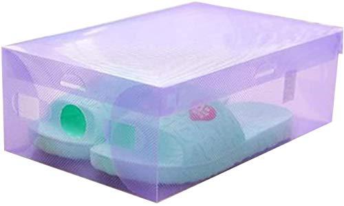 Ranura de calzado ajustable Organizador de zapatos Cajas de plástico Cajas de plástico apilables Hombre lidded mujer Cajas de plástico Botas despejadas Organizador Caja de caja Cajas de almacenamiento