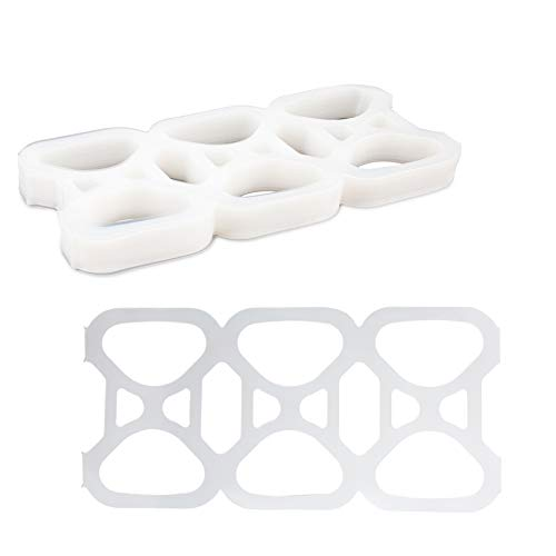 Plastic 6 Pack Rings for 12 Ounce Beer & Soda Cans Universal Fit by MT Products (50 Pieces)