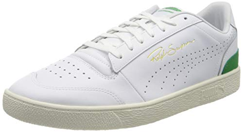 PUMA Herren Ralph Sampson Lo Perf Soft Sneaker, Weiß White-Amazon Green-Whisper White, 44.5 EU