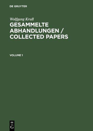 Gesammelte Abhandlungen Collected Papers