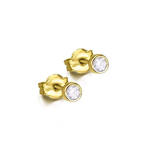 Pendientes Chatón Diamantes en Oro de LECARRÉ JOYAS