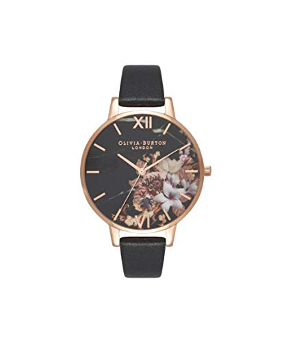Olivia Burton Damen Analog Quarz Uhr mit Leder Armband OB16CS01