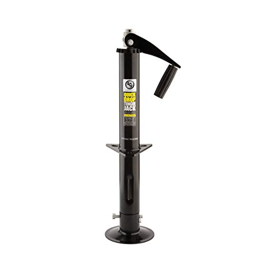 Quick Drop Tongue Jack Top-Wind Power Drill Compatible For A-Frame Trailer 2,000 lb. Capacity