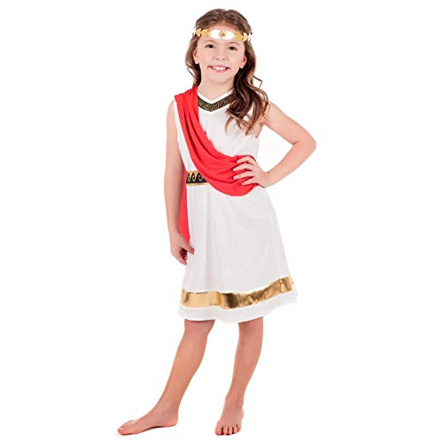 Fun Shack FNK4655M kostuum, meisjes, Griekse godin, Medium