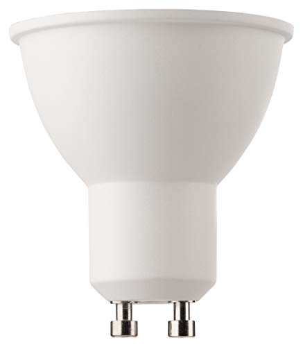 MÜLLER-LICHT 400285 A+, LED Reflektorlampe, ersetzt 50 W, 2700 K, Plastik, 6.5 W, GU10, Weiß, 5 x 5 x 5.5 cm