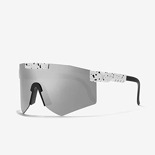 Tletiy Ciclismo Gafas Sol Hombre, Gafas Ciclismo al Aire Libre Gafas Sol polarizadas Deportivas Gafas Sol Polarizadas con UV Doble Protección Polarizado TR90 Frame Hombres y Mujeres