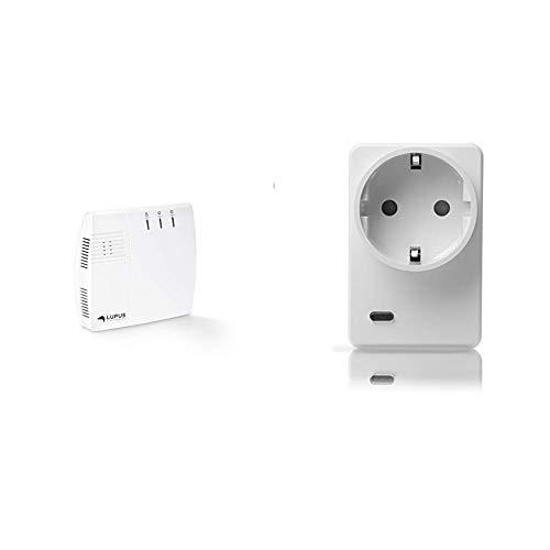 Lupus-Electronics 12045 XT2 Plus Zentrale, Smarthome Alarmanlage mit GSM Modul & LUPUSEC Funksteckdose mit Stromzähler und ZigBee Repeater, automatisiertes EIN-/Ausschalten von Verbrauchern