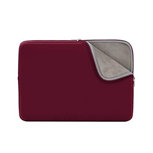 RAINYEAR 11-11,6 Pollici Custodia Protettiva per Laptop PC Notebook Computer Sleeve Caso Morbide Borsa da Trasporto Compatibile con 11,6  MacBook Air per 11  Chromebook(Rosso,Versione Aggiornata)