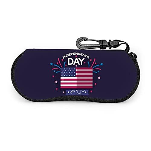 Independence Day America - Funda para gafas de sol con cremallera para viaje