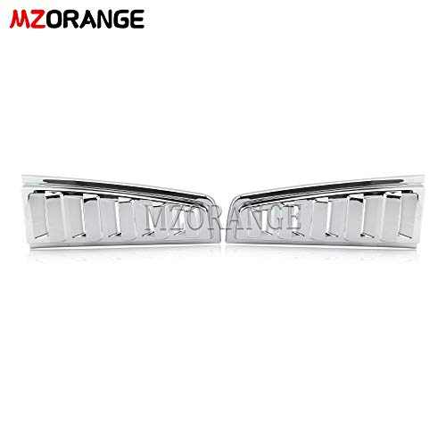 Clidr Rear Upper Tail Light Lamp Vent Cover Guard Trim Chrome for Hummer H2 2003-2009