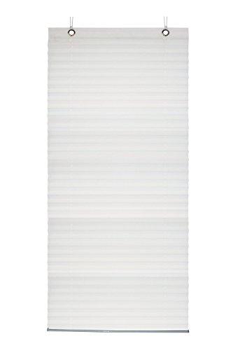 Gardinia Plissee zum Aufhängen, Blickdichtes Faltrollo, Alle Montage-Teile inklusive, Plissee Lilly, Weiß, 80 x 130 cm (BxH)