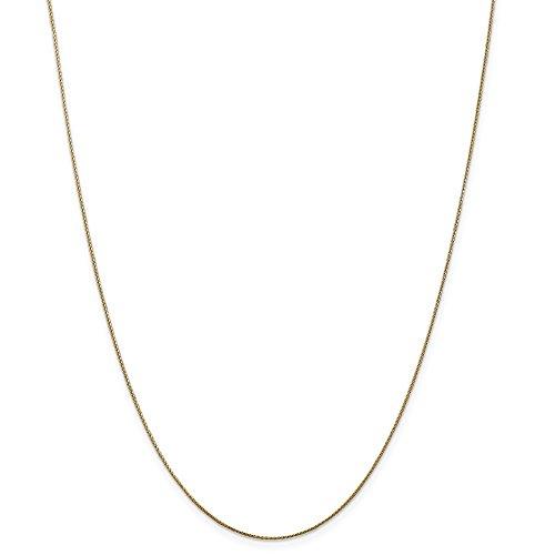Diamond2deal 14K giallo oro 0.65mm Ciondolo spiga catena collana 76,2cm