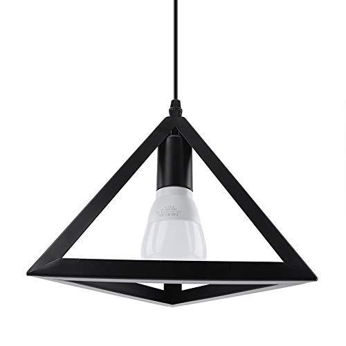 Colgante geométrico Lighs Cage, E27 Modern Style Black Simple Lámpara de techo de hierro Lámpara colgante para comedor Comedor, dormitorio, estudio, pasillo, lámpara de la puerta del porche