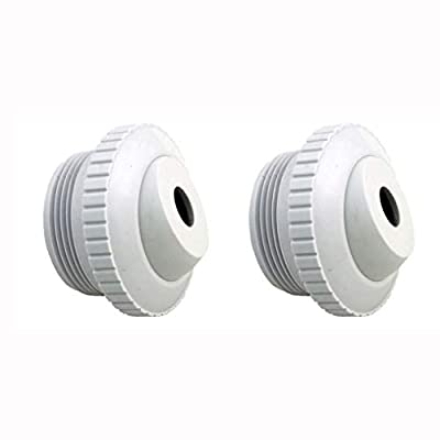 """ATIE Pool Spa 1/2"""" Inch Opening Hydrostream Return Jet Fitting with 1-1/2"""" Inch MIP Thread Replace Hayward SP1419C (2 Pack)"""