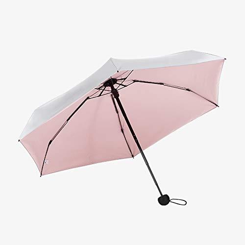 NFHBBAA Parapluie Pliant Parapluie Argent Pluie Femme Parapluie Coloré Parapluie Fille Coupe-Vent