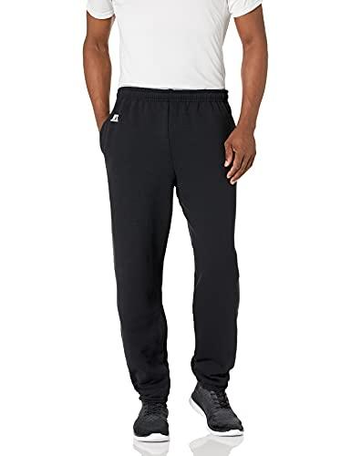 Russell Athletic Men's Dri-Power Closed-Bottom Fleece Pocket Pant - Large - Black