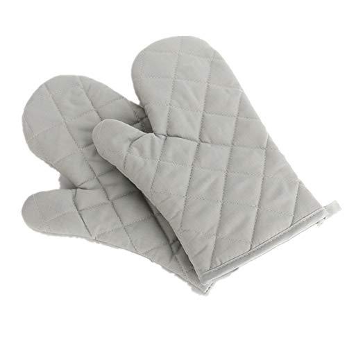 Voarge Ofenhandschuhe, Hitzebeständig Ofenhandschuhe Verdickte Hitzeresistente Topfhandschuhe Topflappen Backhandschuhe, 1 Paar (grau)