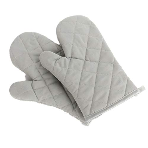 Voarge Ofenhandschuhe, Hitzebeständig Ofenhandschuhe Verdickte Hitzeresistente Topfhandschuhe Topflappen Backhandschuhe, 1 Paar grau