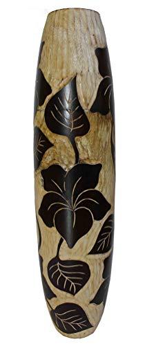 Rotfuchs Vase à Fleurs Vase en Bois étage Vase Dekovase pour la décoration 50 cm en Bois de manguier