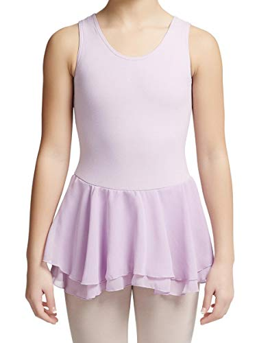 Capezio Girls Double Layer Skirt Tank Dress (ACC877C) -Lavender -Toddler