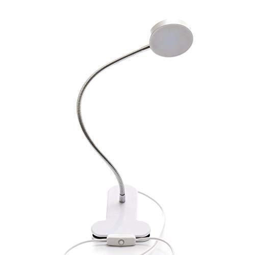 JLXW LED koud licht tattoo lamp beauty lamp draagbare tafellamp met flexibele zwanenhals USB oplaadbare clip op leeslamp voor hobby's, knutselwerk