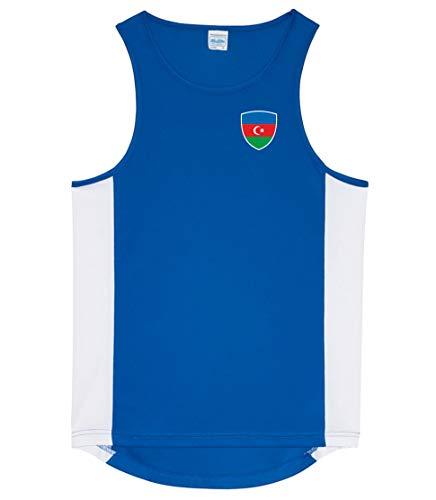Nation Aserbaidschan Tank Top Trikot Ärmellos Sport Fitness ATH BR-B (M)