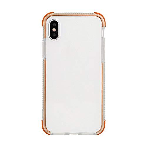 Alikeey Hoes van transparant TPU + PC Bumper Hoeken druppels Kussensloop voor iPhone XS max, X-Small, oranje